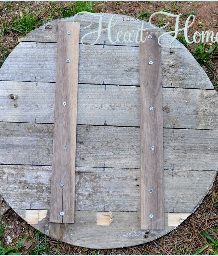 easy diy pallet clock, crafts, home decor, outdoor living, pallet, repurposing upcycling, First I cut pallet wood to the right size and joined it together with 2 strips of wood and some screws I drew a circle 20 on the wood Then using a jigsaw my 1st time I cut out my circle