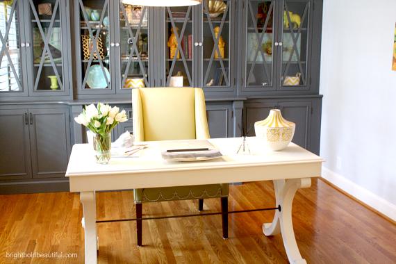 A Stylish Home Office Craft Rooms Decor Ballard Designs