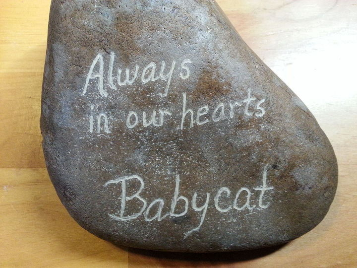 pet memorials and garden rocks, crafts, gardening