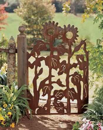 garden gates, fences, gardening