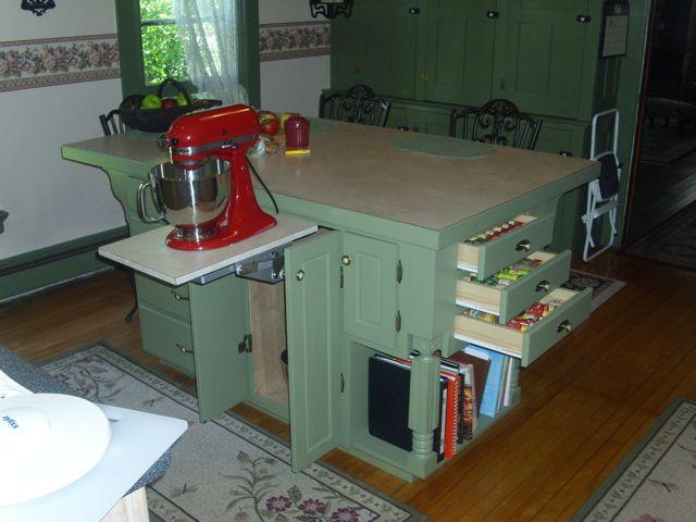 homemade kitchen island kitchen design kitchen island storage ideas mixer lift and - Homemade Kitchen Island Ideas