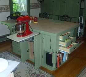 Homemade Kitchen Island, Kitchen Design, Kitchen Island, Storage Ideas,  Mixer Lift And