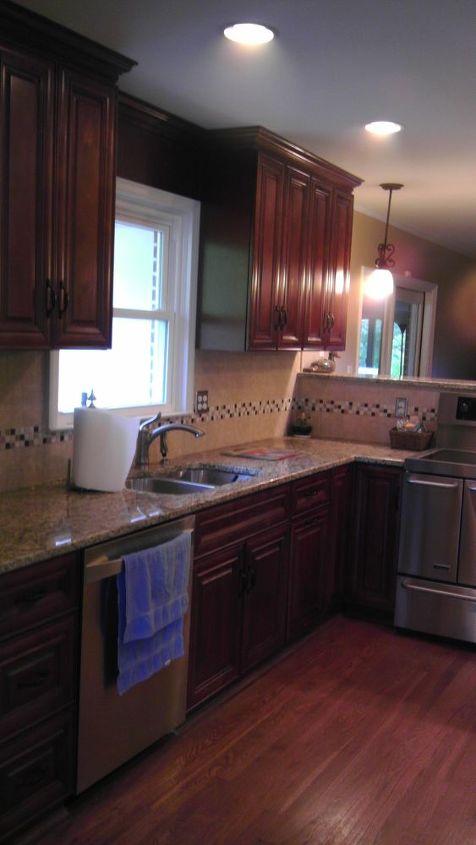 kitchen remodel marietta march 2012, home improvement, kitchen backsplash, kitchen design, New granite backsplash cabinets paint and appliances