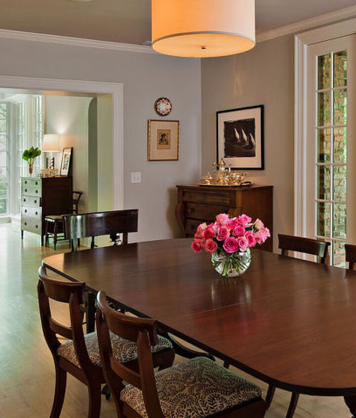A small living room was transformed to become this spacious dining room that our clients use for entertaining.