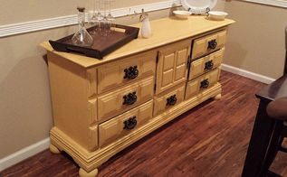 dresser turned buffet, chalk paint, painted furniture, repurposing upcycling, After