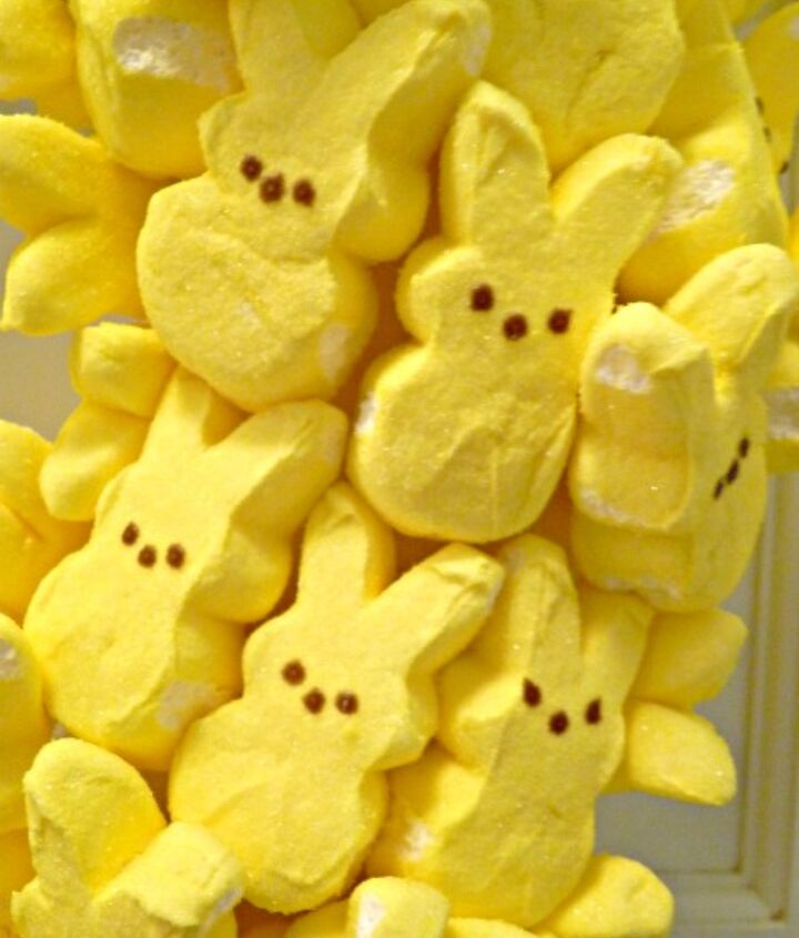 Peep!  3 things from the craft store and you can have your own wreath.  http://eclecticallyvintage.com/2012/03/party-with-my-peeps-easter-wreath-3/
