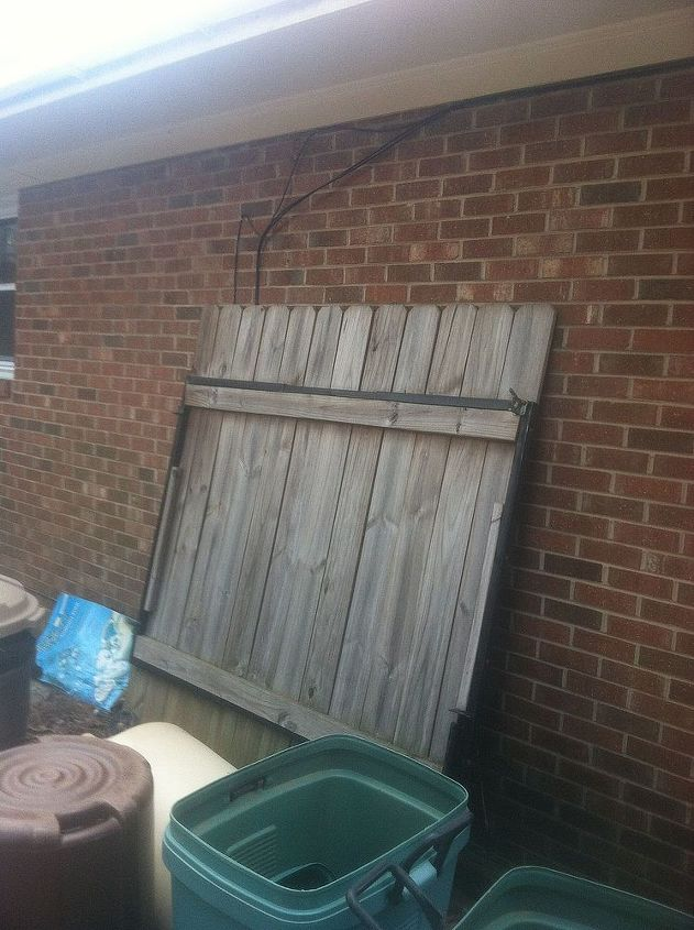 q i am trying to find a way to connect my gate to my brick house without the weight of, curb appeal, fences, The gate I need to put back up