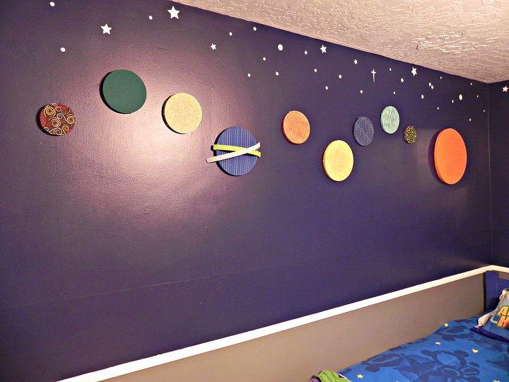 Solar system wall decor