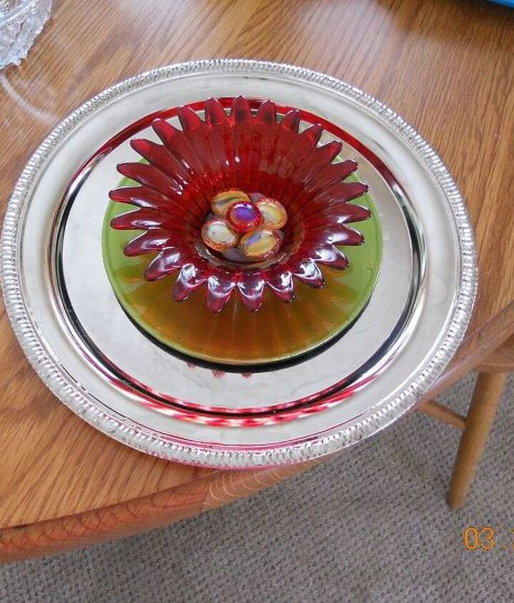 my dish flowers, crafts, flowers, gardening