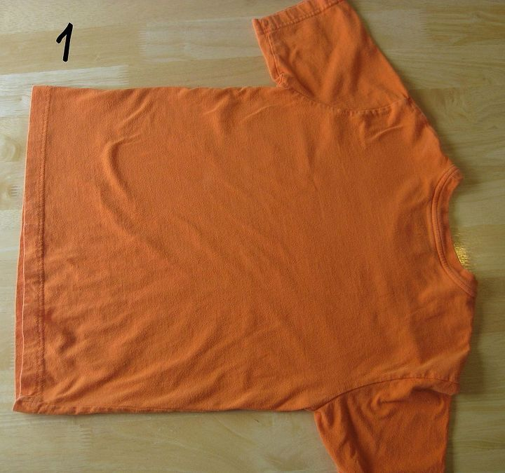 how to fold and organize your t shirts, organizing, 1 Lay the tee out on flat surface