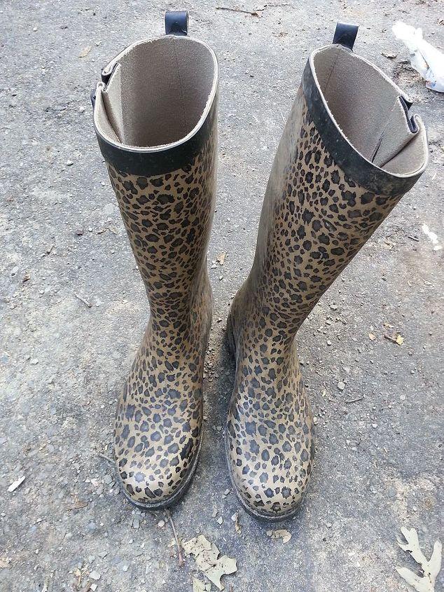 i had to retire my gardening boots, gardening