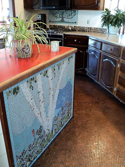 our penny kitchen floor, flooring, home decor, kitchen design