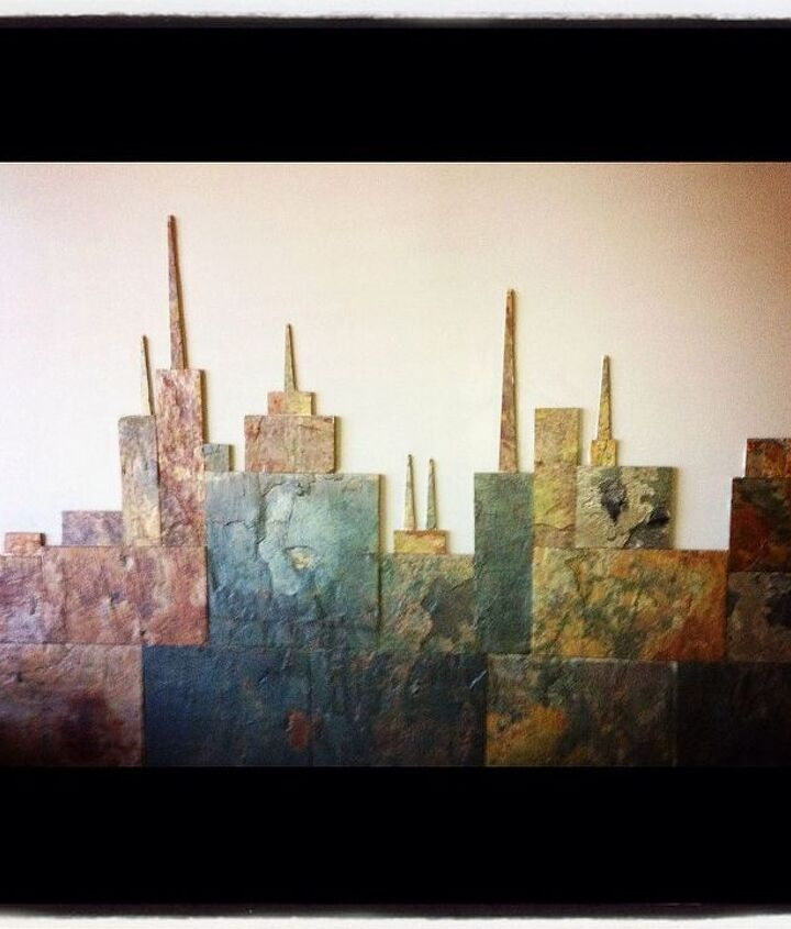 a cityscape cut from slate tile love it or hate it, home decor