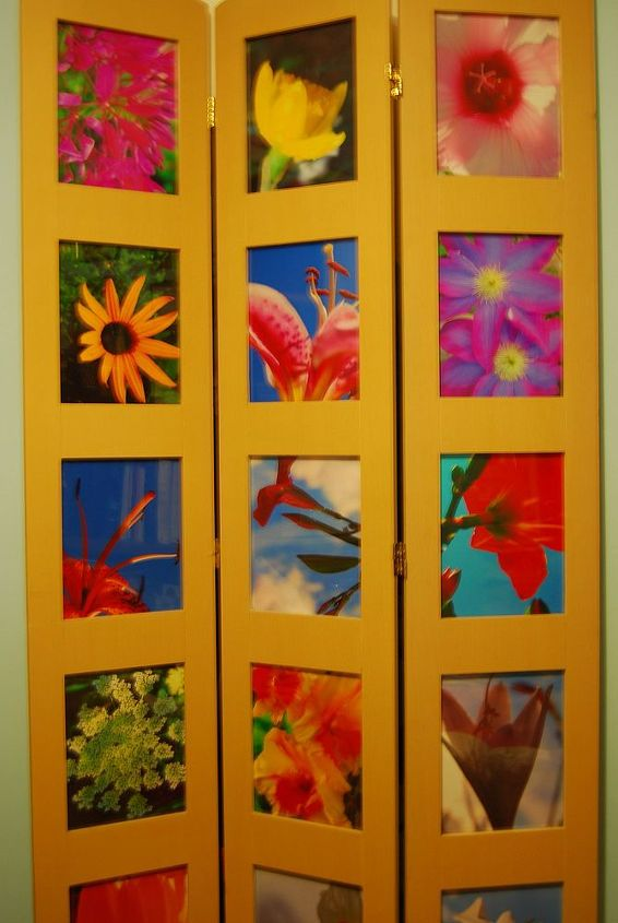 You can paint the photo divider to match your decor or leave it natural