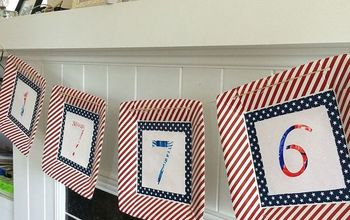 Paper Plate & Kids Art Fourth of July Banner
