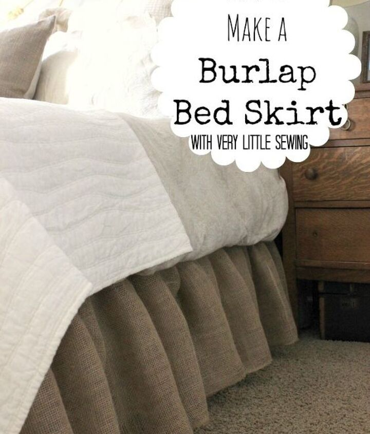 If you can sew a straight line, you can make this bed skirt!