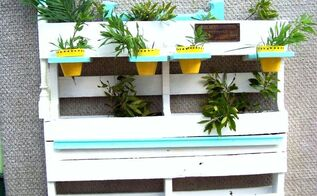 shabby chic pallet herb planter, diy, gardening, pallet projects, repurposing upcycling, Shabby Chic Oak Pallet multiple level herb planter is self standing or can be mounted on a fence