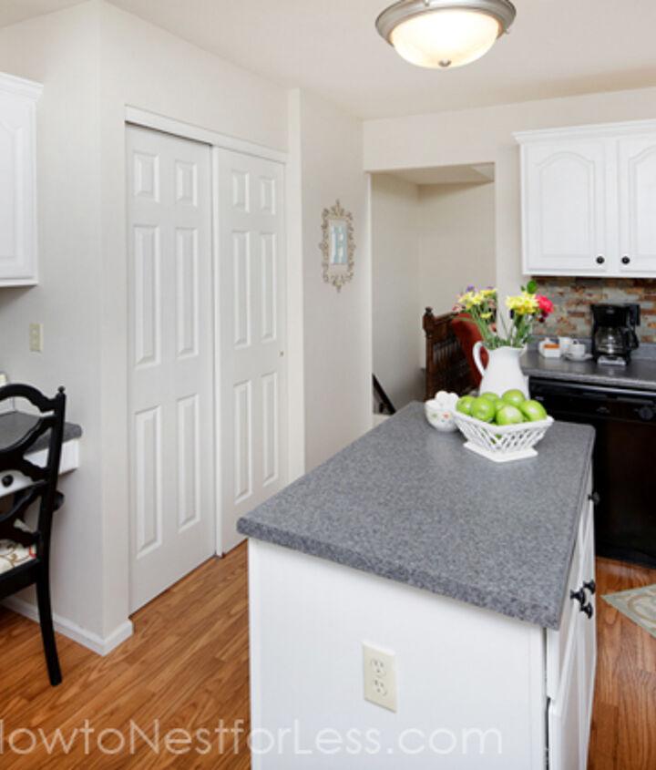kitchen cabinet makeover on a budget, home decor, kitchen backsplash, kitchen design