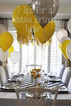 7 tips for setting a fabulously festive birthday table on a budget, crafts, home decor