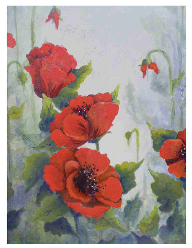 sk s chasing paint, crafts, home decor, painted furniture, I m into poppies right now