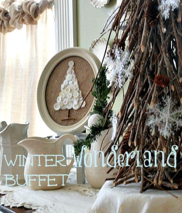 winter wonderland bufftet vignette, seasonal holiday d cor