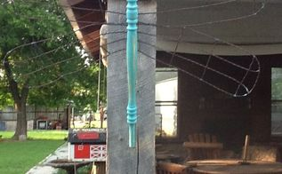 dragonflies made from re purposed materials, decks, outdoor living, repurposing upcycling, vintage wire dragonfly
