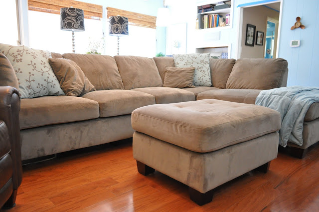 Couch in family room