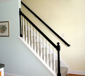 Attractive Mini Makeover Paint Your Banister Black, Home Decor, Painting, The  Contrasting Black Rail