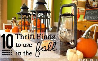10 thrift finds to use in the fall, crafts, repurposing upcycling, seasonal holiday decor