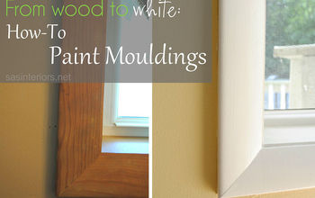 From Wood To White: How-To Paint Moudlings