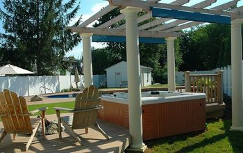 Can you imagine relaxing in your Hot Tub, gazing up through the pergola at the stars with the fire pit just next to you