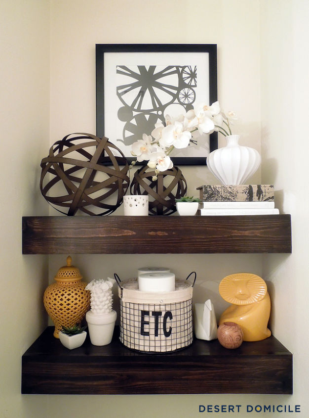 Diy 15 Chunky Wooden Floating Shelves Hometalk