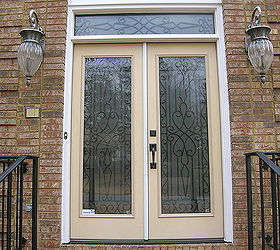transformed single door twin sidelights and transom to matching double doors and doors home & Transformed single door twin sidelights and transom to matching ...