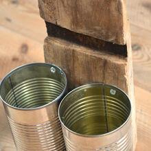 recycled tin can organizer, organizing, repurposing upcycling