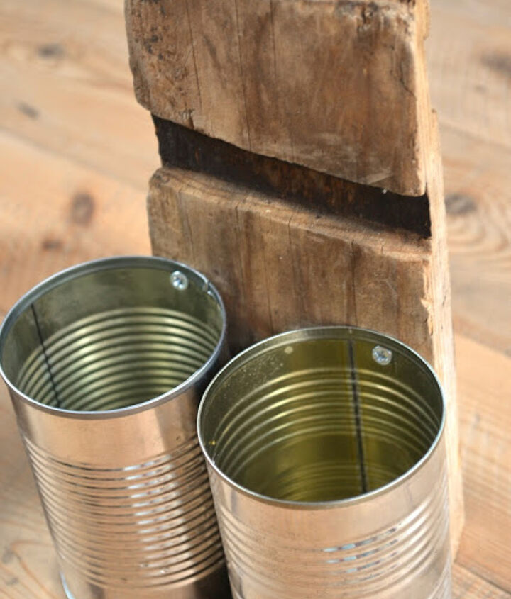 recycled tin can organizer, organizing, repurposing upcycling