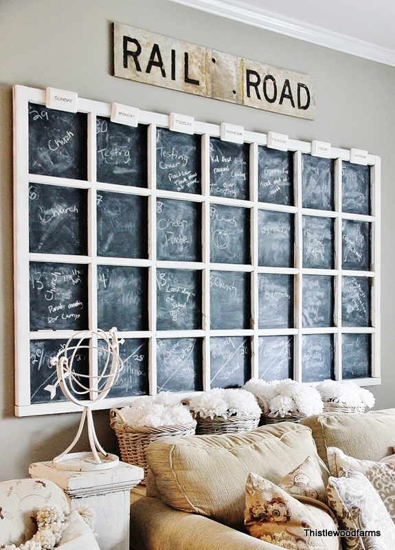 Chalkboard Wall Calendar Paint Crafts Decor Windows