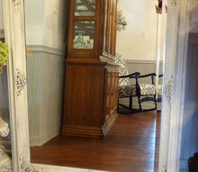 an antique mirror redo, chalk paint, painted furniture, repurposing upcycling