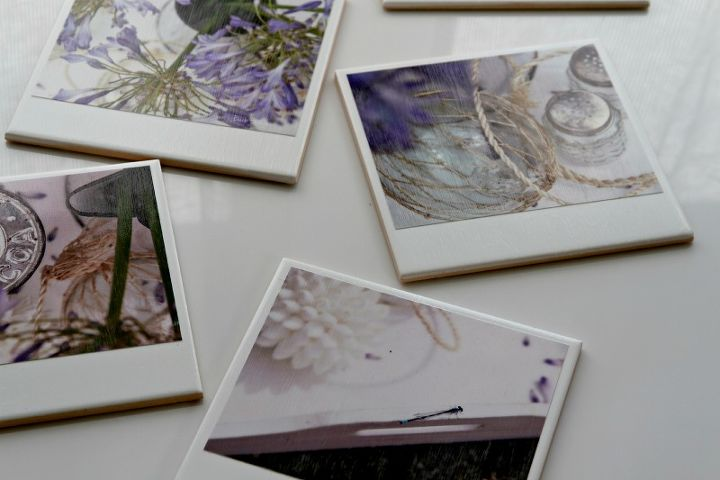 hipstagram polaroid photo coasters, crafts