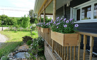 how to build flower boxes for railings, container gardening, decks, diy, flowers, gardening, outdoor living, woodworking projects, Wooden Railings Flower Boxes DIY building instructions
