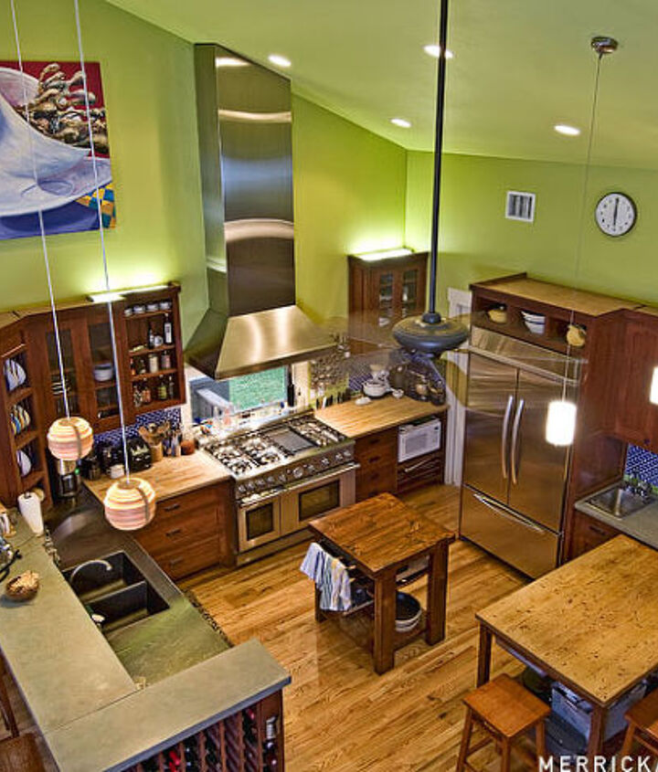 An aerial shot of our kitchen.