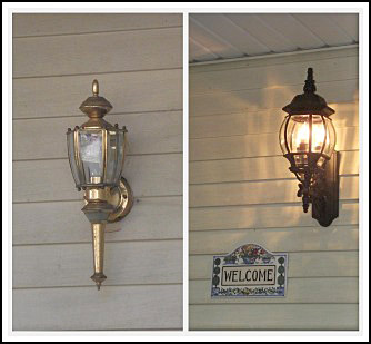Weekend Porch Makeover Curb Appeal Lighting Porches The Brass Light Fixture Had