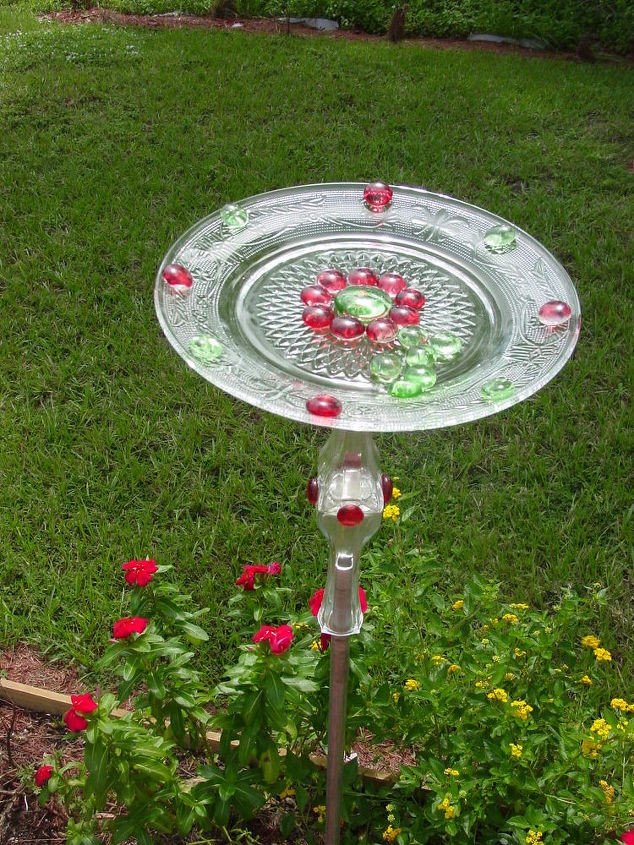 butterfly puddle, crafts, outdoor living, repurposing upcycling, Butterfly Puddle
