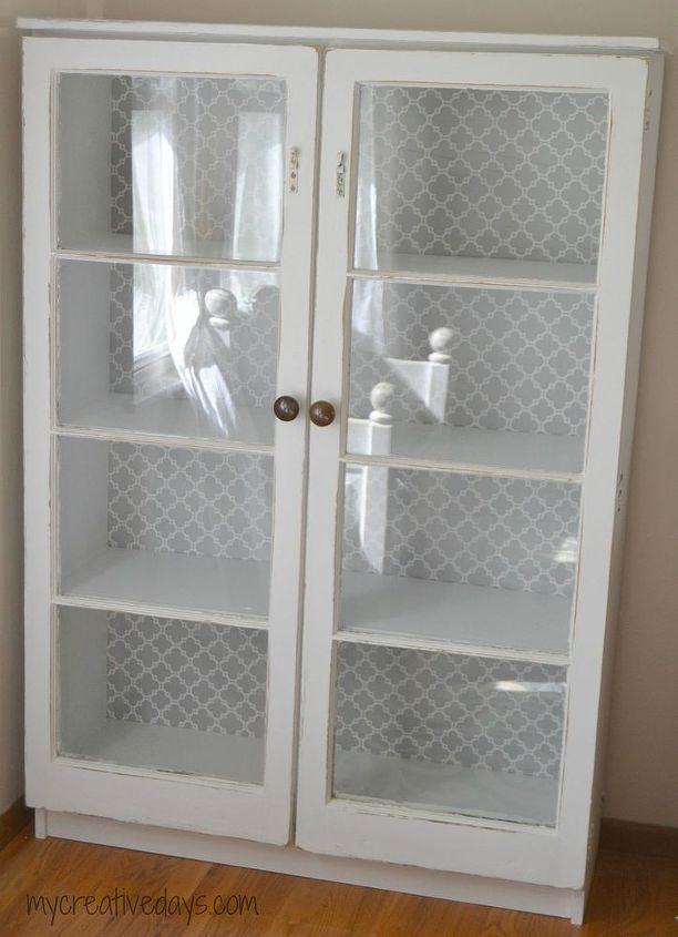 repurposed window cabinet, painted furniture, repurposing upcycling