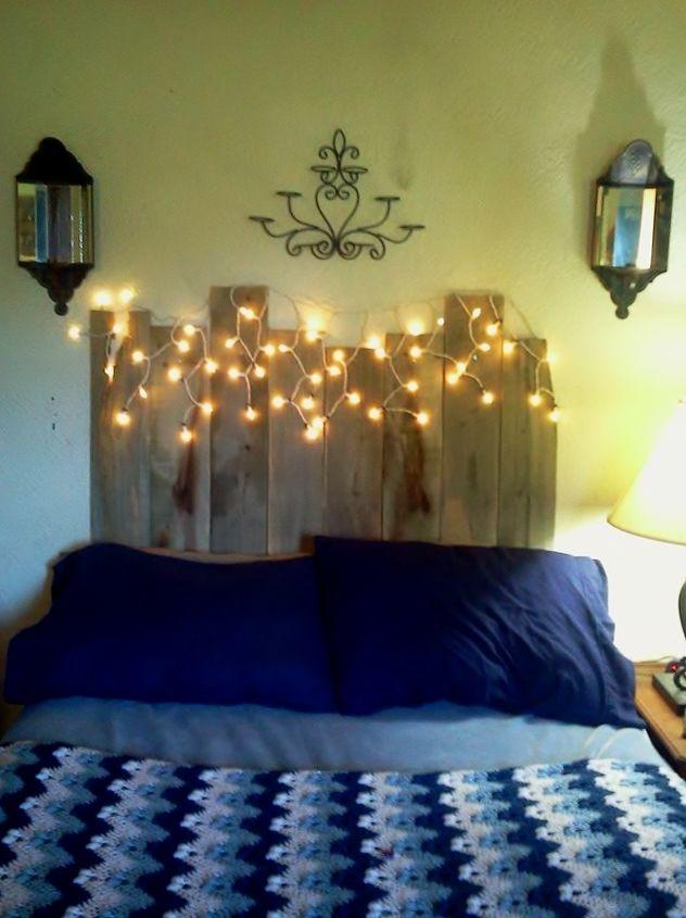 my new pallet wood headboard, diy, painted furniture, pallet, repurposing upcycling