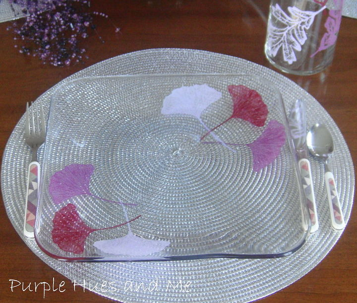 painting glass plates for d cor entertaining, crafts, home decor, Using simple techniques accessories such as glass plates can be transformed to suit your taste creating exciting fresh d cor that bring ho hum pieces to life
