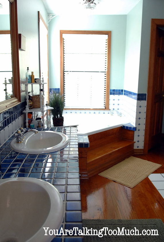 """Tubs need a sparkle? Use windex after or even for a quick """"shine"""". It's that easy! More details: http://youaretalkingtoomuch.com/2012/10/quick-and-easy-way-to-make-ceramic-tile-and-hardwood-sparkle-and-shine/"""