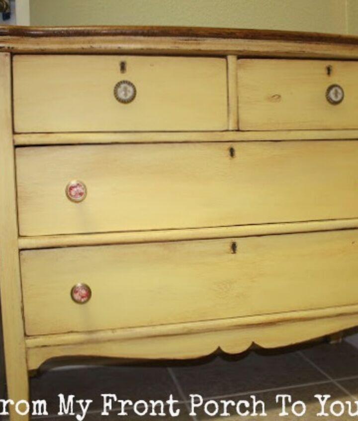 vintage dresser turned dog kennel retreat, painted furniture