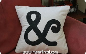 Make and Stencil a Pillow Using Freezer Paper