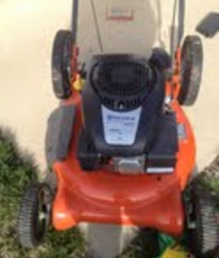 q husqvarna push lawn mower carb issue leaking gas, home maintenance repairs, how to, landscape