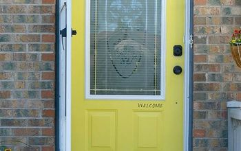 Our Gleaming Front Door...Before and After.